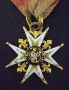 Military medal front-side detail