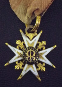 Military medal back-side detail
