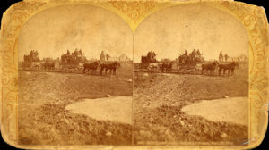 Stereoview of stagecoaches