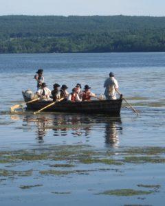 Row boat on Lake Champlain