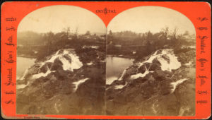 Picture of waterfalls around Fort Ticonderoga