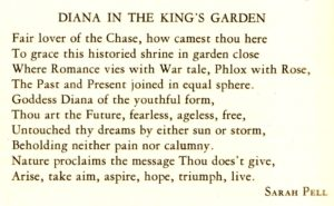 Diana in the King's Garden poem