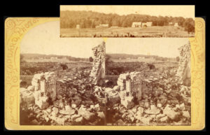 Photograph showing eveidence of 19th-century occupation of Fort Ticonderoga's grounds