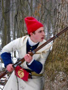 Soldier wearing simple wool hat