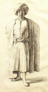Man wearing Turkish robes/cloak