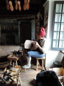 Woman working on Giberne