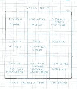 Salad quilt plan image