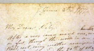 This letter written by Alexander Scammell to Naby Bishop in 1777 is owned by the Fort Ticonderoga Museum