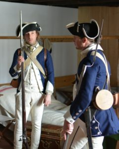 Within the 4th Pennsylvania Battalion of 1776, Captain Lacey's Company had a particularly sharp, custom uniform, but one which did not hold up for the entire campaign.