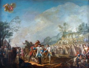 Fort Ticonderoga's recent acquisition of an important painting of the French military on campaign from the mid-18th century