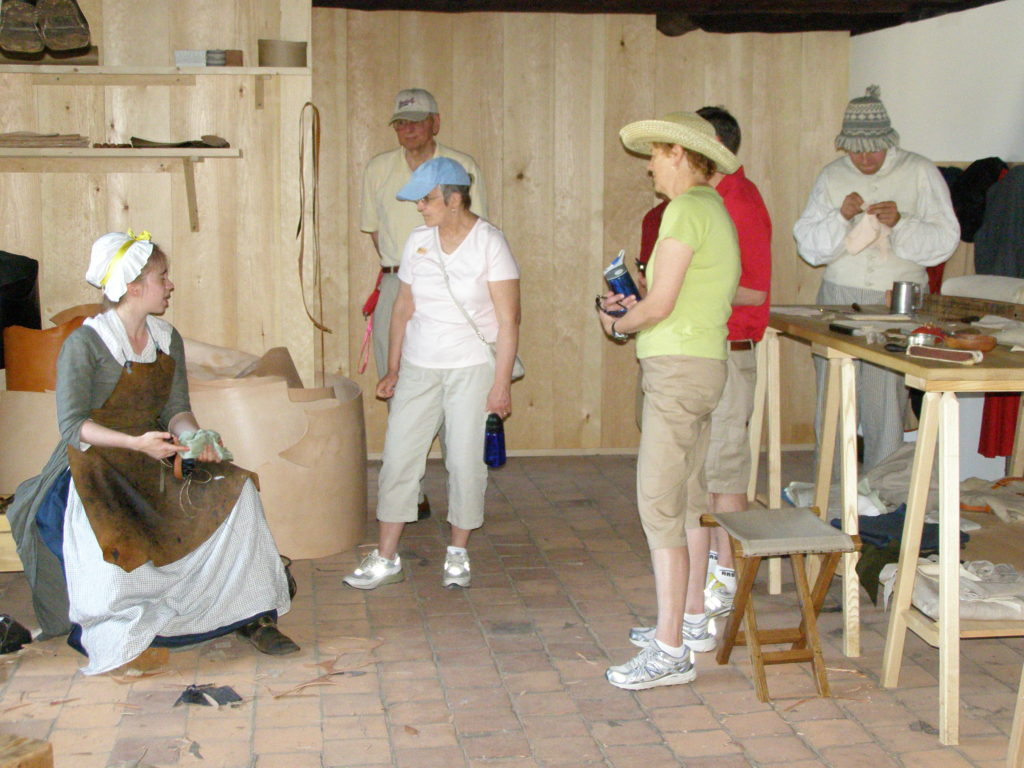 conversation with visitors