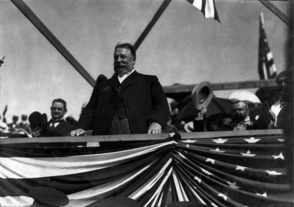 President William Howard Taft at Fort Ticonderoga grandstand