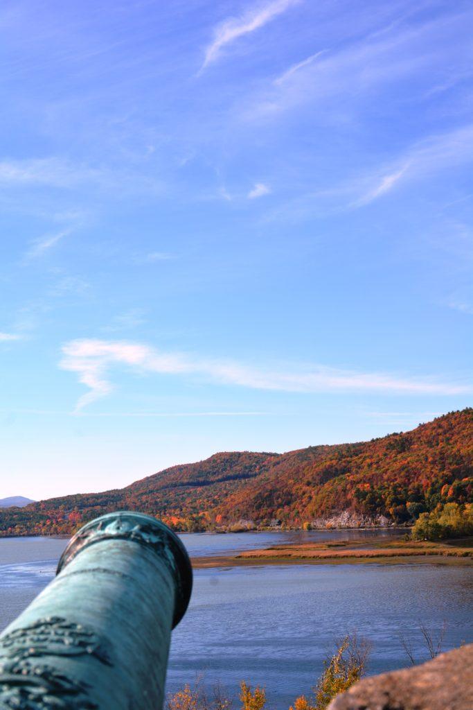 Cannon overlooking Lake Champlain