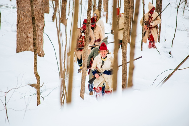 Battle on snowshoes