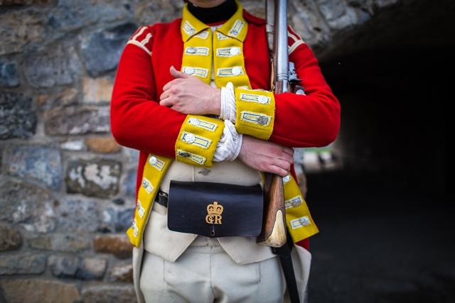 British solider guarding post
