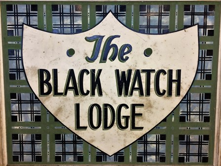The Black Watch Lodge sign