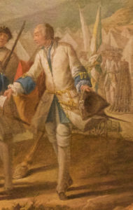 1748 Royal Roussillon Regiments' uniform detail