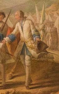 1748 Royal Roussillon Regiments' uniform detail