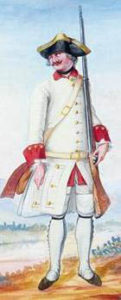 1757 Bearn Regiments' uniform detail