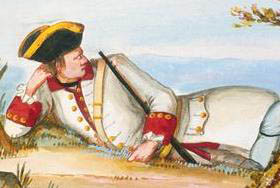 1757 Guyenne Regiment uniform detail