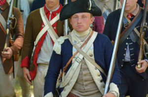 Soldiers marching during Ticonderoga on Independence Day 1777
