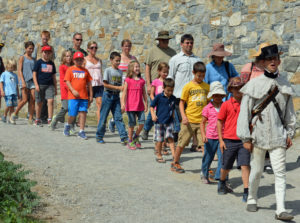 Familes at Fort Ticonderoga during Homeschool Day