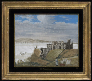 Needlework of the ruins of Fort Ticonderoga
