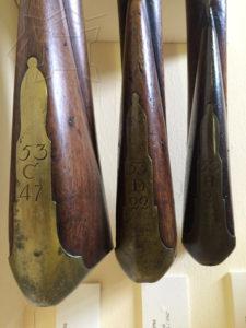 British 53rd Regiment musket buttplates