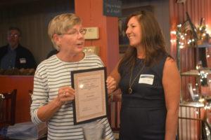 Bonnie Sheeley reciving 2017 Volunteer Award