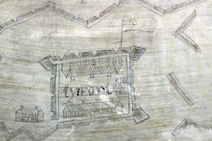 John Riley's Powder Horn drawing