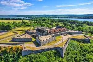 Arial view of Fort Ticonderoga