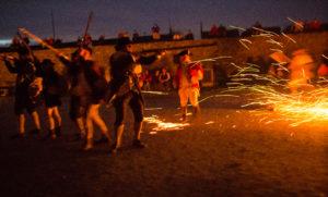 Nighttime Battle Reenactment