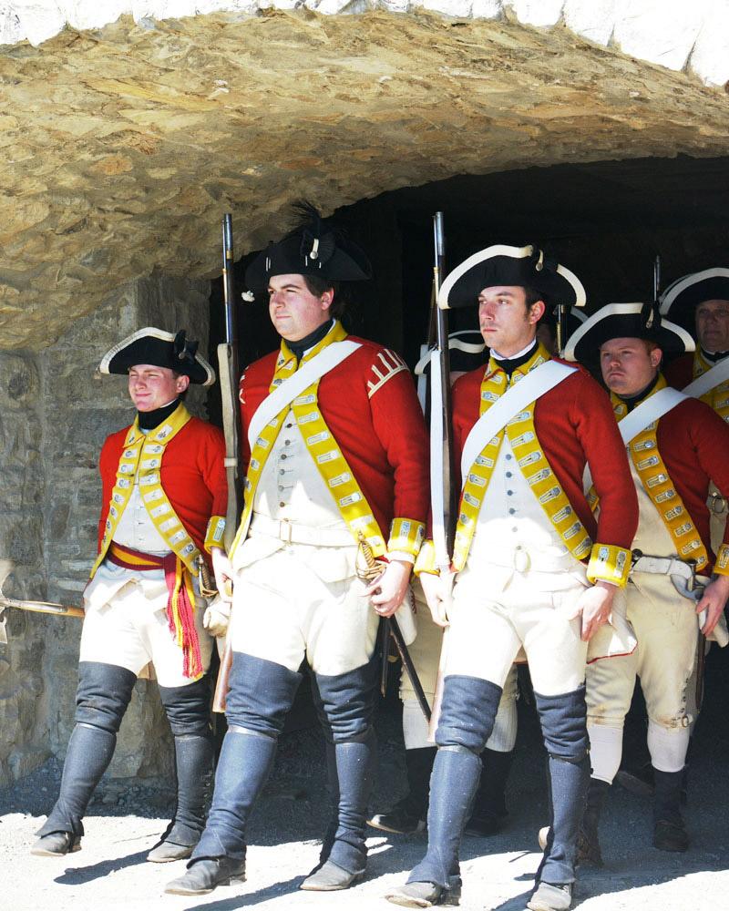1775 British garrison