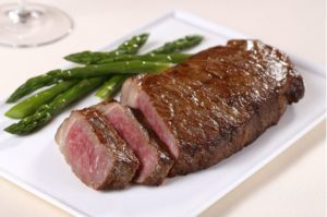 juicy beef and asparagus