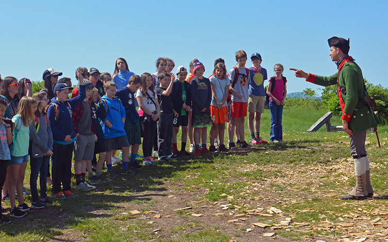 Children learning on Homeschool Day at Fort Ticonderoga