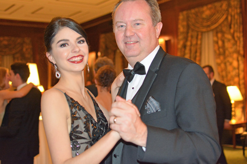 Man and woman dancing at the Ticonderoga Ball
