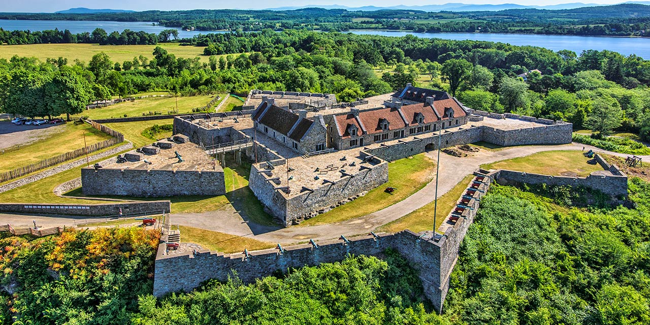 Aerial of Fort Ticonderoga