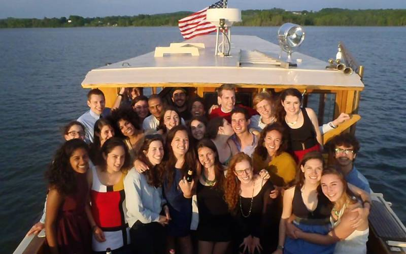Group on boat tour