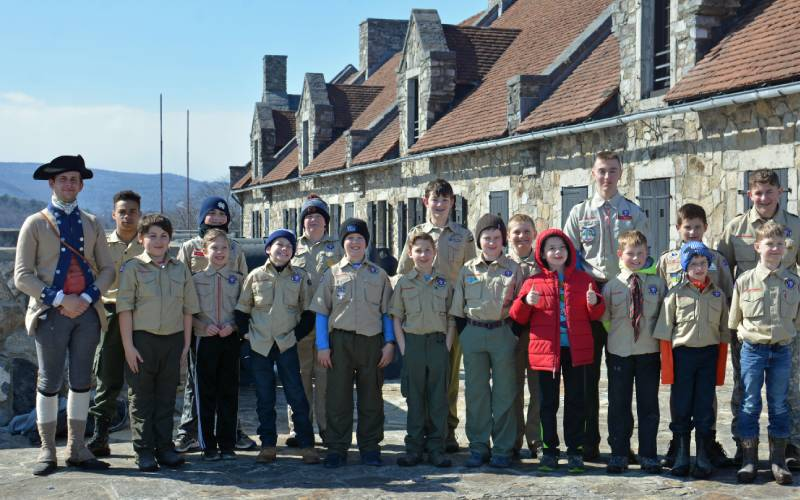 Boy Scouts with Soldier
