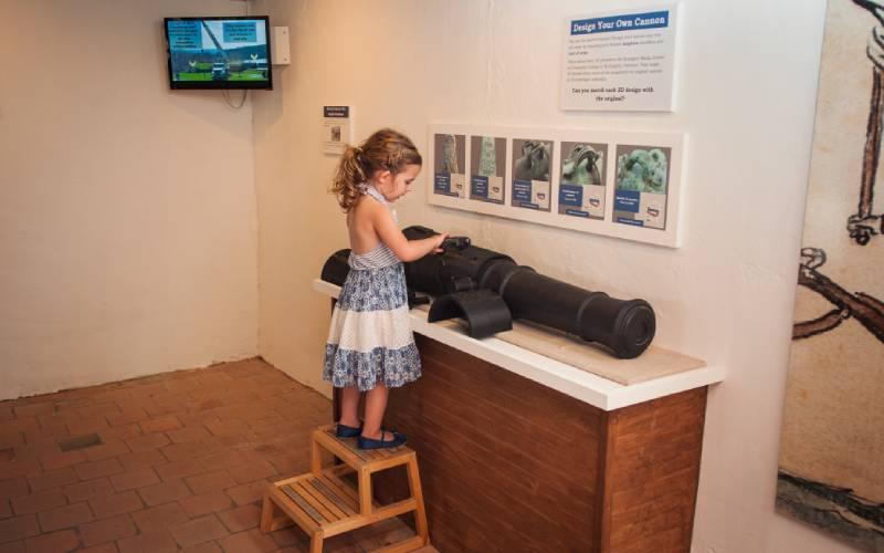 hands-on artillery exhibit