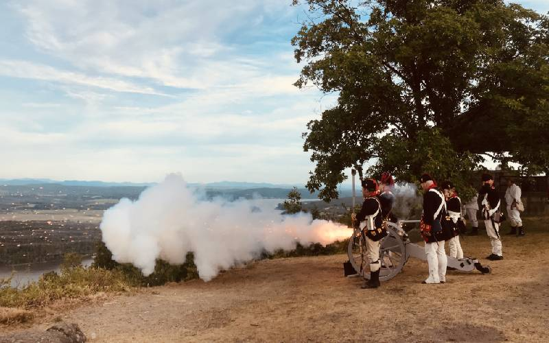 Cannon Fire at Mount Defiance
