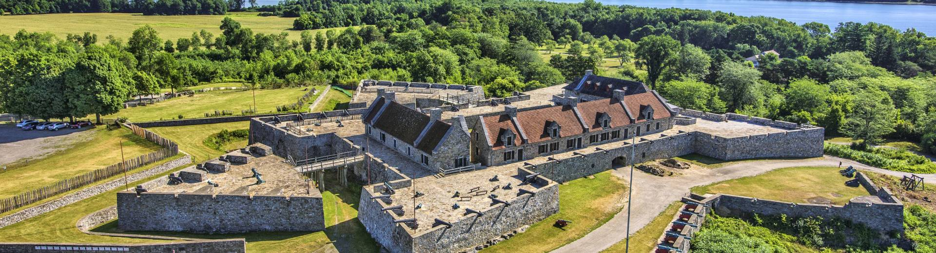 Aerial view of Fort Ticonderoga