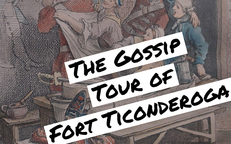The Gossip Tour of Fort Ticonderoga with people in background