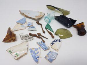 pieces of ceramics