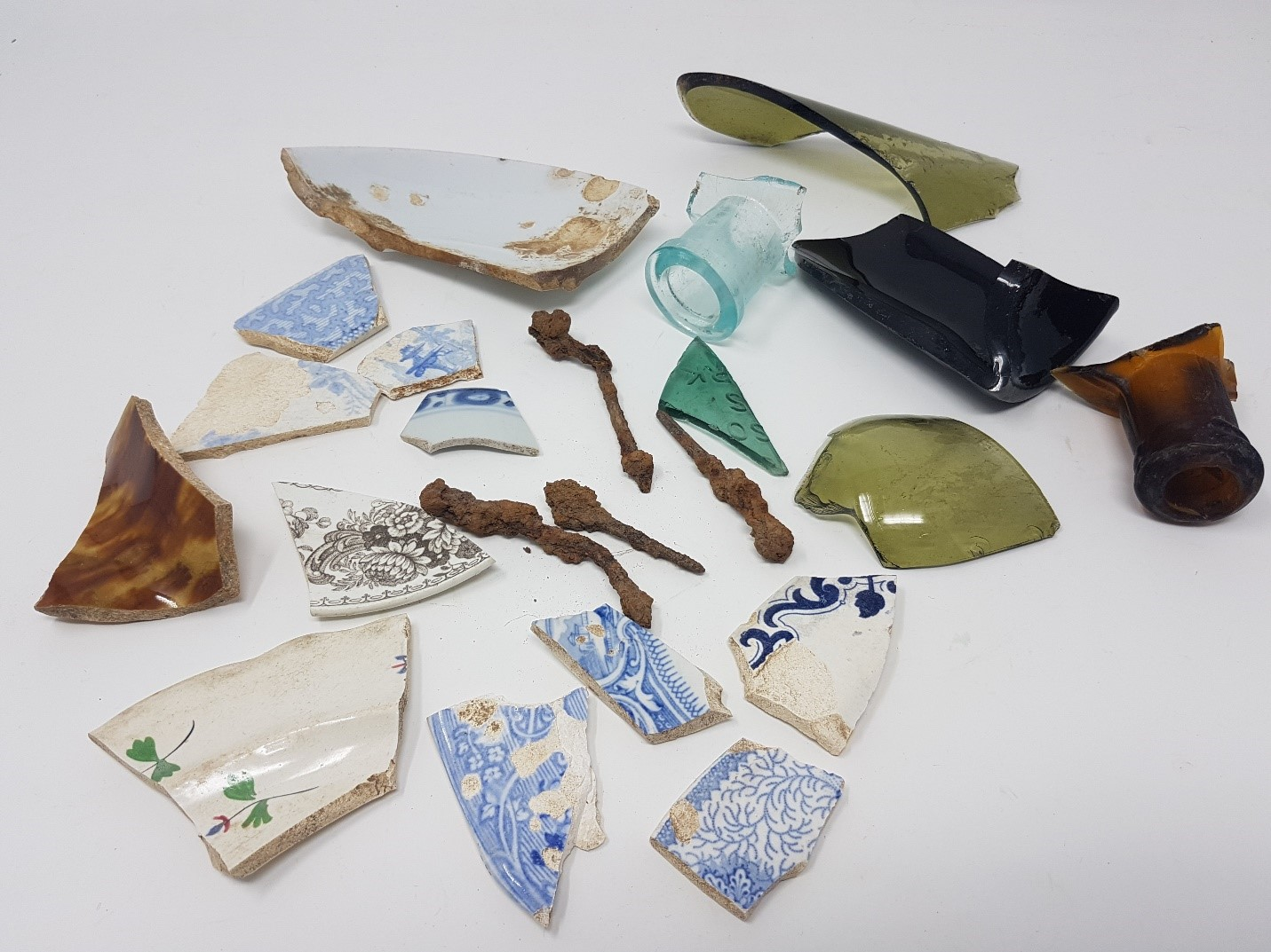 pieces of ceramics