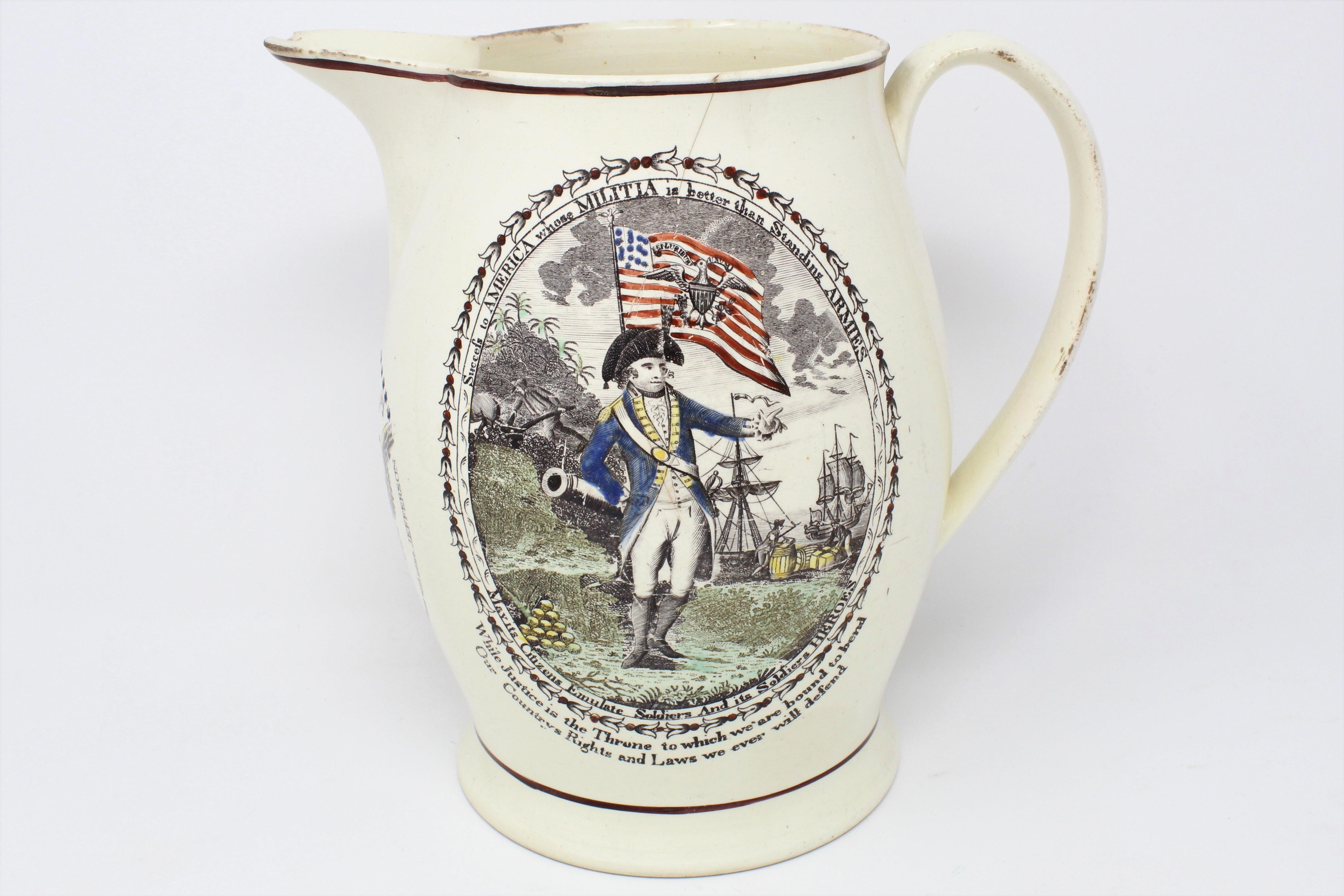 Militia exhibit pitcher