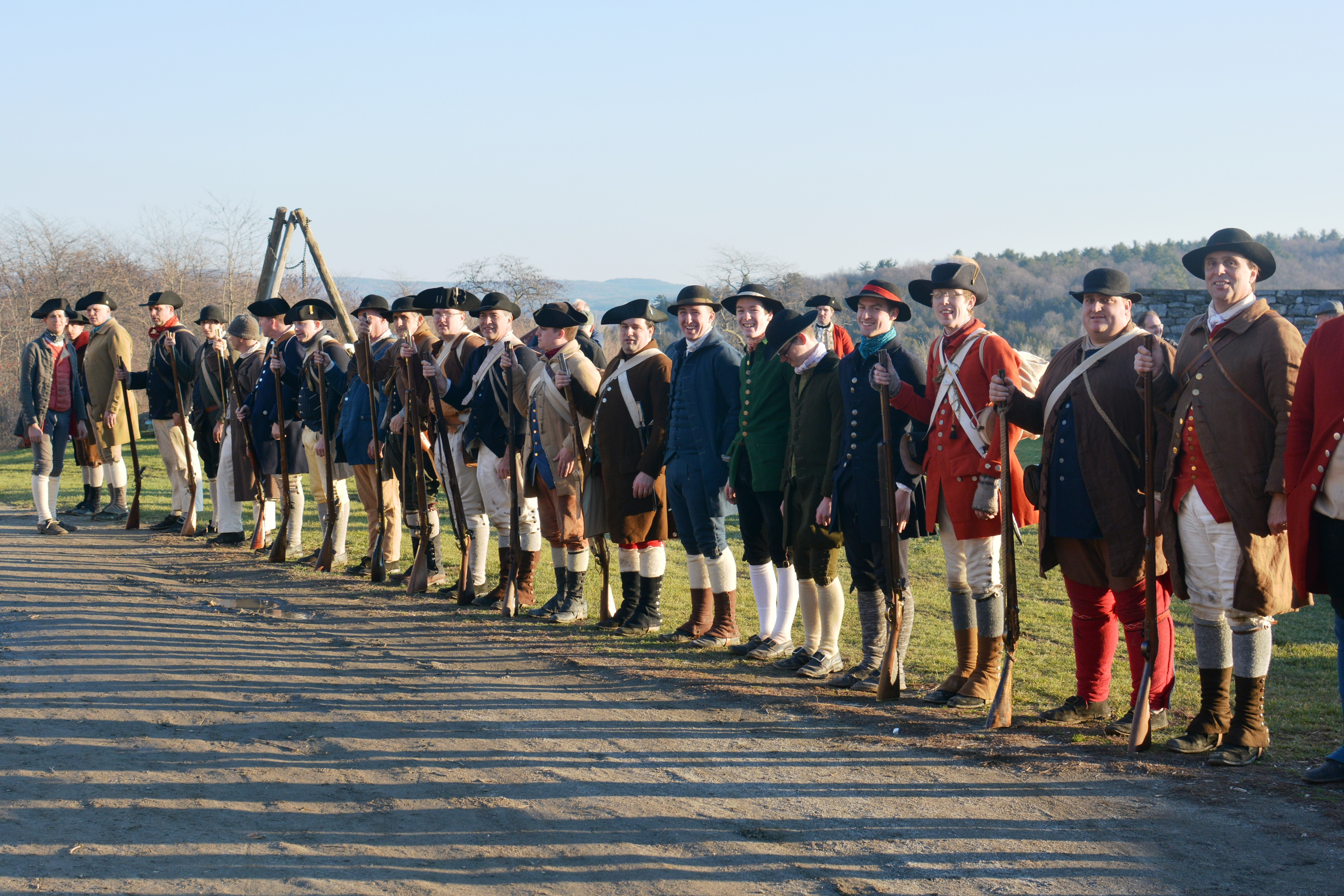 re-enactors lined up