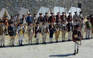 nothing could exceed spirit and alertness living history event with lineup of soldiers