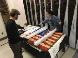 Rehousing the American flag of SSU 5/646