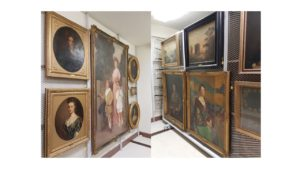 A selection of paintings from the Pavilion currently in controlled storage at the Thompson-Pell Research Center